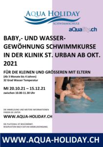 aqua-holiday babyschwimmen Klinik St.Urban